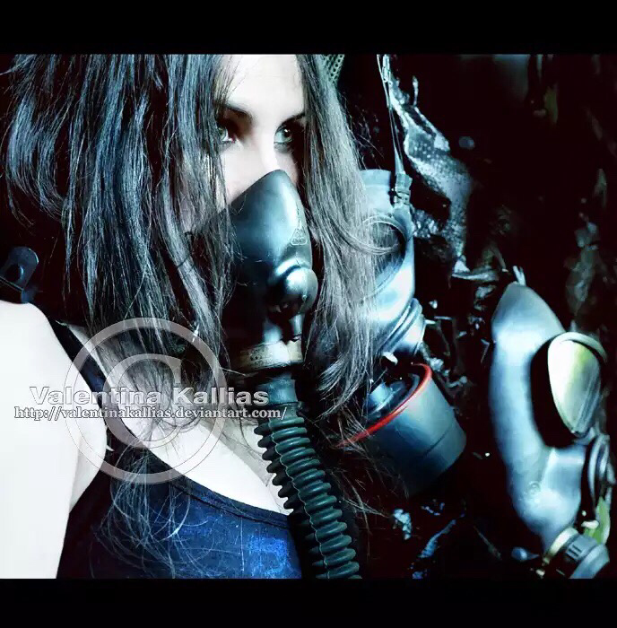 The gasmask Merchant Photography by Valentina Kallias